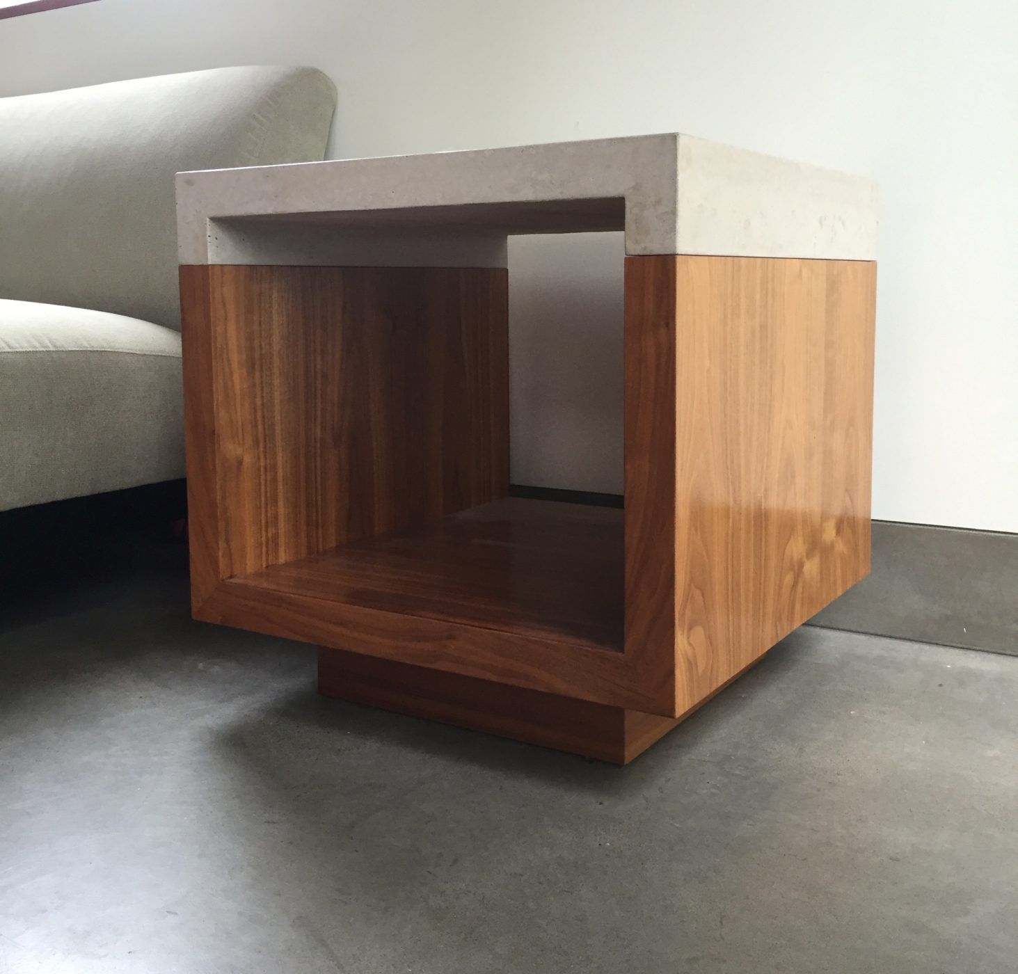 concrete and wood furniture. Beautifully Crafted Furniture Pieces In Concrete, Wood, Glass And Steel Designed Built By Eric Butler Design. Concrete Wood
